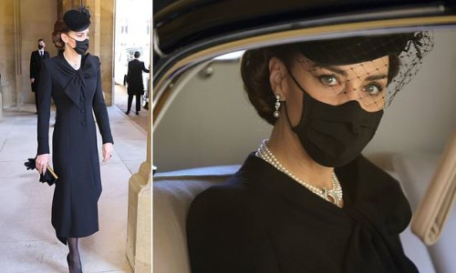 Kate Middleton was dignified and composed as arrived at castle alone