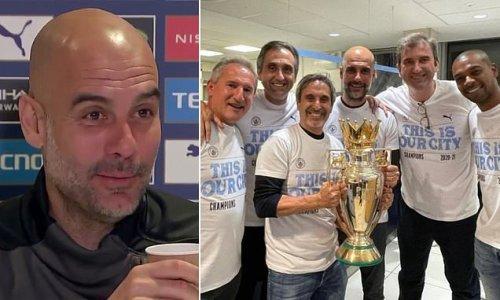 Pep Guardiola reveals Man City's boozy title celebrations on Tuesday