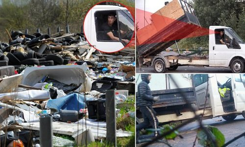 Britain's worst fly-tippers? Shameless pair are caught dumping waste