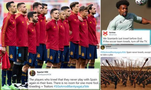 'If they take a knee, turn off the TV' trends on Twitter in Spain