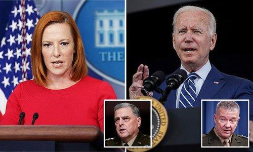 Psaki won't say if Biden ignored Pentagon advice to keep troops