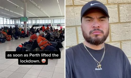 Hundreds of FIFO workers fly out of Perth as state lockdown is lifted
