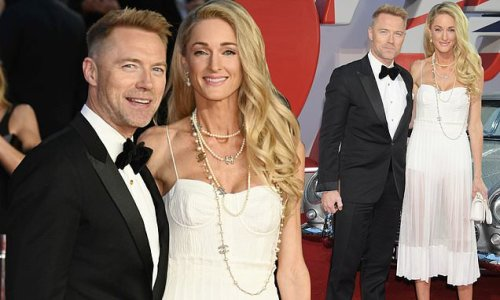 Ronan Keating and wife Storm make a stylish arrival at Bond premiere