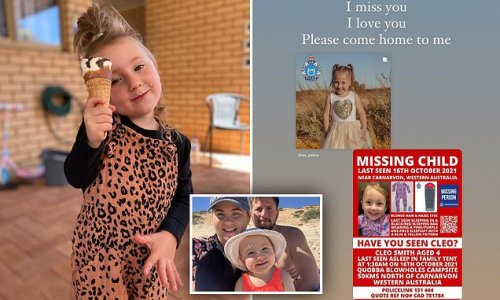 Cleo Smith's mum issues desperate plea for little one's return