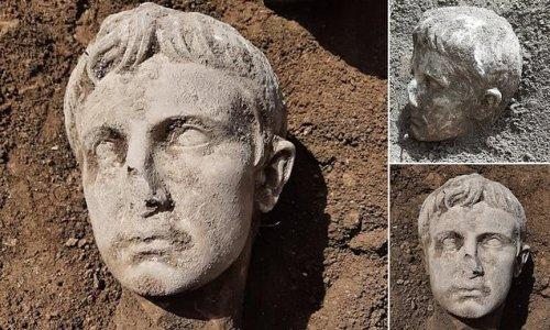 2,000-year-old bust of Emperor Augustus, identified by telltale hair