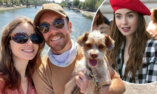 Lily Collins reunites with fiancé Charlie McDowell and dog Redford