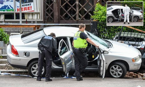 Volvo is drove into crowd gathered outside pub after England game