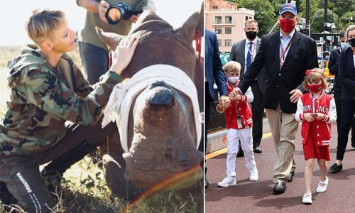 Princess Charlene remains in South Africa to look after rhinos