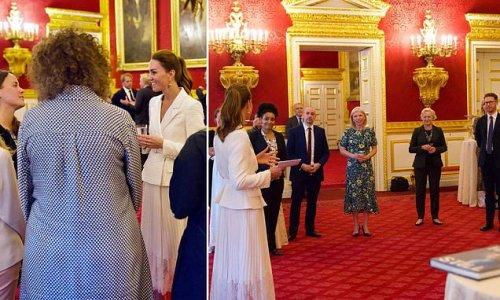 Kate Middleton wows in crisp white at Hold Still event