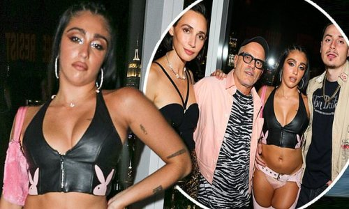 Lourdes Leon looks kinky in bralette and chaps at Madonna's NYC show