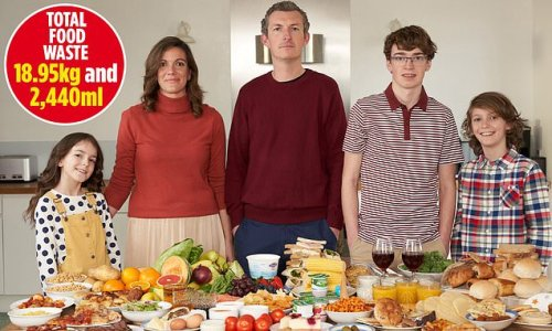 Family of five keep a diary of their food waste with shocking results