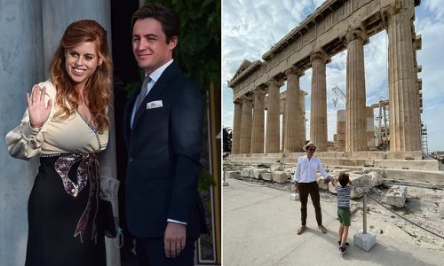 Edo Mapelli Mozzi shares rare snap with his son Wolfie, 5, in Athens