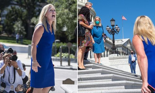 Marjorie Taylor Greene has shouting match with Debbie Dingell