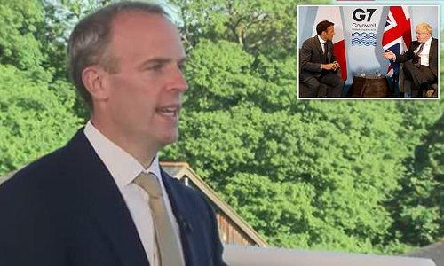 Dominic Raab blasts Emmanuel Macron over Northern Ireland comments