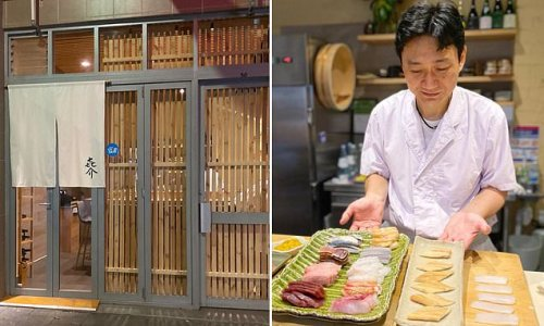 Behind this door in a laneway lies a six-seater Japanese restaurant