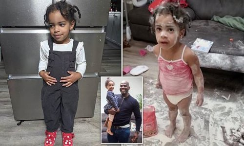 Father's video captures moment he discovered toddlers covered in flour