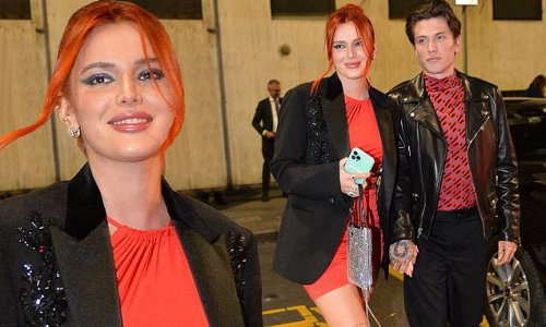 Bella Thorne and Benjamin Mascolo attend Milan Fashion Week party