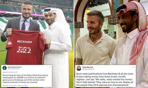Campaigners and fans slam Beckham's deal to be face of Qatar World Cup