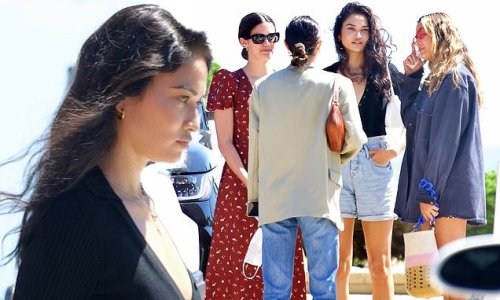 Shanina Shaik catches up with fellow Victoria's Secret models in LA