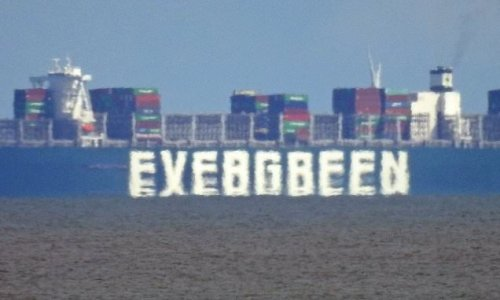 Ever Given waits off Suffolk months after blocking Suez Canal