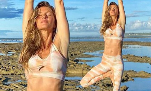 Gisele Bundchen flashes her toned tummy before her 40th birthday