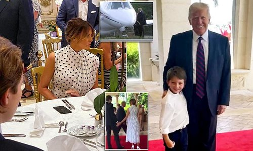 Spotted! Melania wears polka dots to celebrate Mother's Day