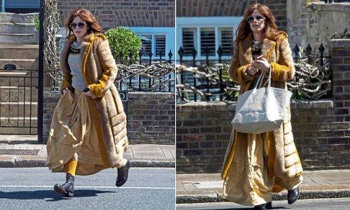 TALK OF THE TOWN: Anna Friel, 44, wears a £4,000 vintage ensemble