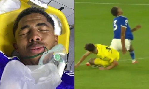 Leicester's Wesley Fofana suffers suspected broken leg in friendly