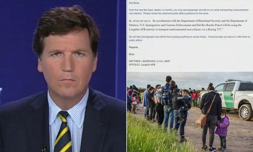 Carlson reveals US military base used to fly illegal immigrants
