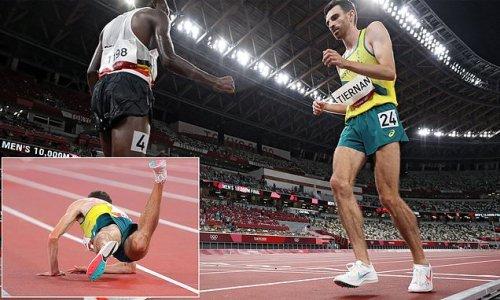 Inspirational moment Australian distance runner finishes 10,000m final