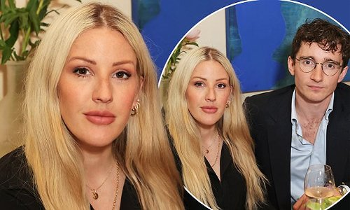 Ellie Goulding and Casper step out after the birth of their son Arthur