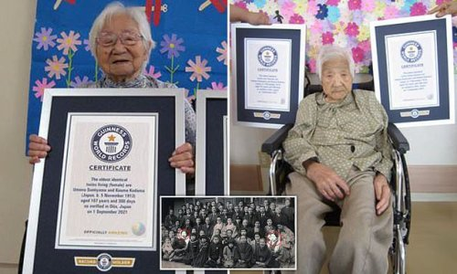 Two Japanese sisters become world's oldest identical twins