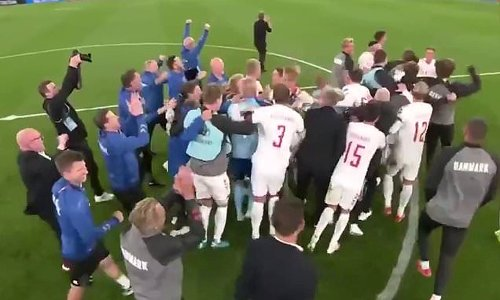 The incredible moment Denmark players find out they're through
