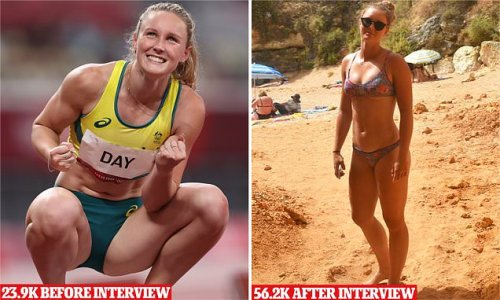 From checkout chick to Olympic star: Glamorous Aussie runner explodes