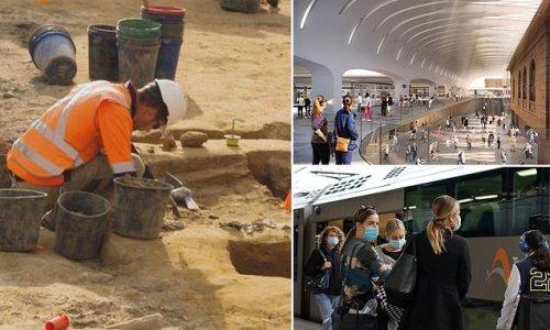 200-year-old graves found under Sydney train station