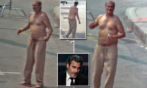 Joaquin Phoenix looks old for his years on set of Disappointment Blvd