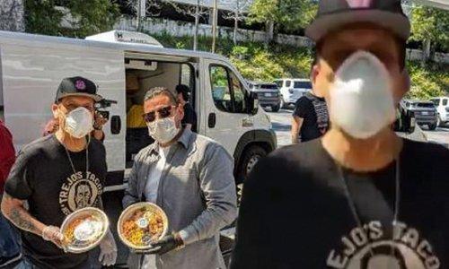 Danny Trejo donates free meals to USC Verdugo Hills Hospital