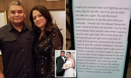 Man writes heartbreaking love letter to wife before dying of COVID-19