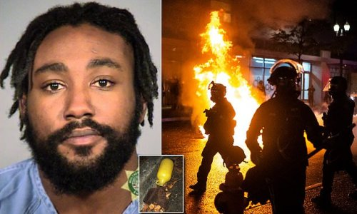 Molotov cocktail thrower who lobbed firebombs at police is arrested