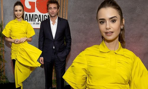 Lily Collins and Robert Pattinson play host for GO Campaign fundraiser