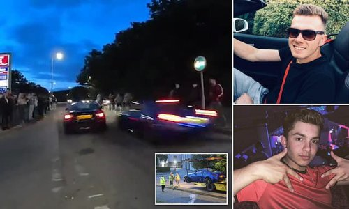 Two boy racers who left 19 injured after crashing into crowd jailed