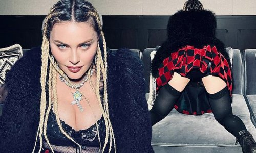 Madonna, 63, defies her age in a mini skirt in new set of racy photos