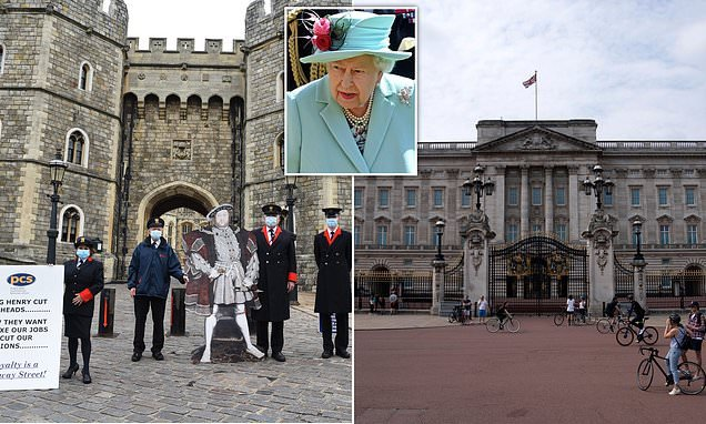 HALF of the Queen's 600 household staff are facing the axe