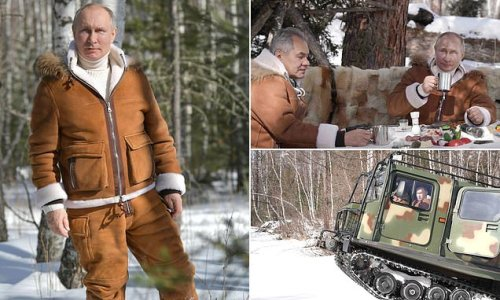 Putin grins in sheepskin... after issuing new 'kill list' of targets