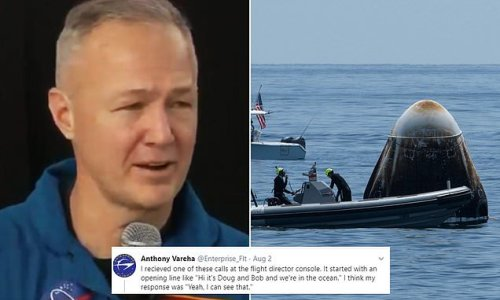 NASA astronauts made prank calls in SpaceX's Dragon capsule