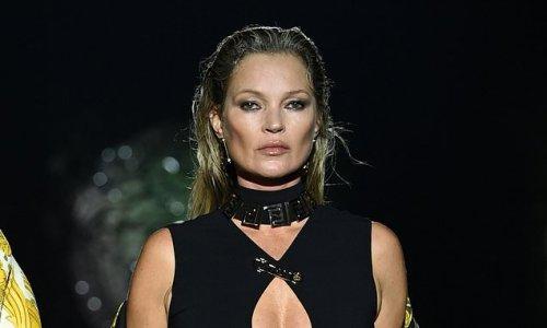 Kate Moss walks the runway at Milan Fashion Week