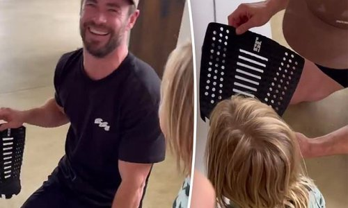 Chris Hemsworth gives fans a rare glimpse into his home life