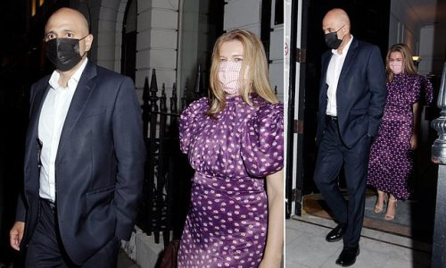 Sajid Javid goes on night out with his wife at Mayfair club Oswald's
