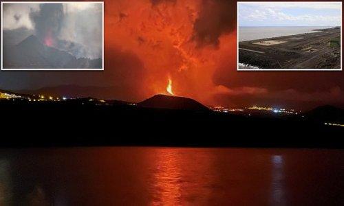 La Palma volcano spews lava into the air as eruption intensifies