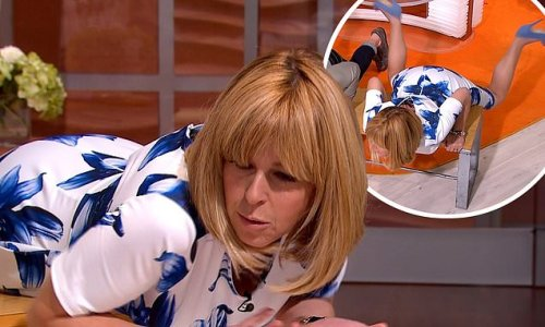 Kate Garraway performs the 'breast strock' in hilarious GMB throwback